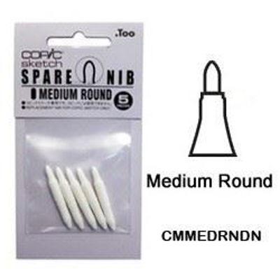 CMMEDRNDN Medium Round Nib 5pk