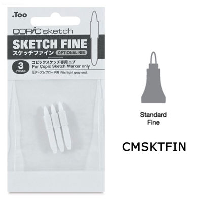 CMSKTFIN Copic Sketch Fine 3pk