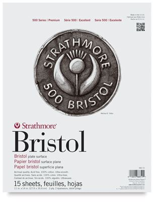 SM580-52 Strathmore Bristol Pad 2-Ply Plate - 11X17 24 Sheets