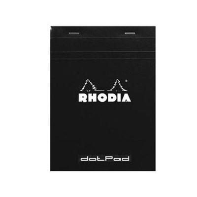 """RH12559  Rhodia Dot Pad Black N⁰.12 (3.25""""x4.75"""")- Softcover 80pg"""
