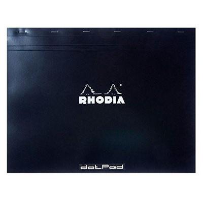"RH38559  Rhodia Dot Pad Black N⁰.38 (16.5""12.5"")- Softcover 80pg"