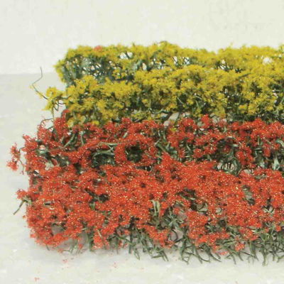WE00334 WEESCAPES Flower Hedges 5''x3/8x5/8'' Red & Yellow 4pk