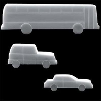 Scale Plastic Cars - Aluminum Color