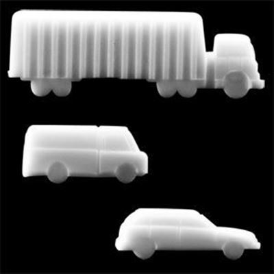 Scale Plastic Cars - White Color