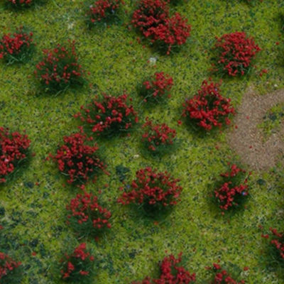 WE00317 — WEESCAPES Flowering Red Meadow 5x6-1/8