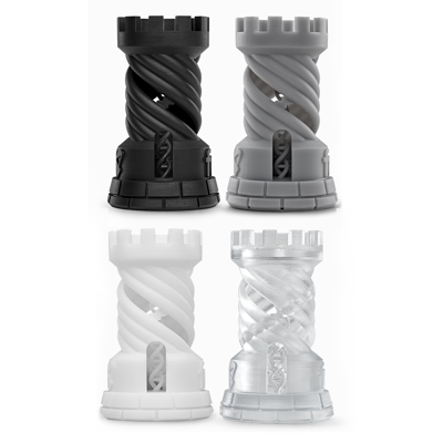 Color Types of Standard Resins: Black, Grey, White and Clear