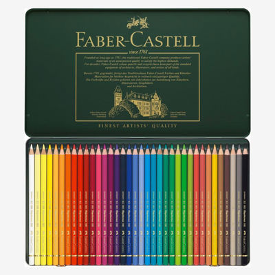 FC110036 Faber Castell POLYCHROMOS Artist Colored Pencil 36ct Metal Tin