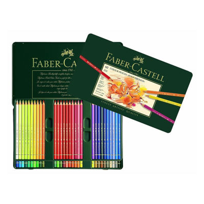 FC110060 Faber Castell POLYCHROMOS Artist Colored Pencil 60ct Metal Tin