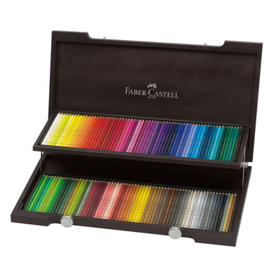 FC110013 Faber Castell POLYCHROMOS Artist Colored Pencil 120ct Wood Case